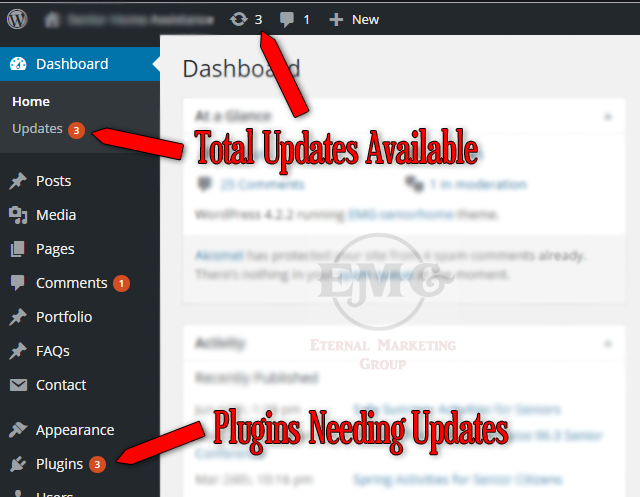 WP Dashboard Updates