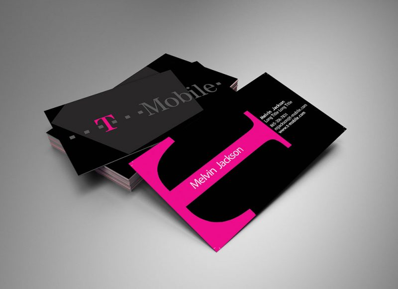 t mobile business card design - Mobile Business Card